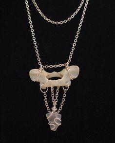 Sea Glass Vertebrae Necklace by SalineDreams on Etsy