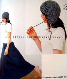 Crochet grey hat ♥LCH-MRS♥ with diagram