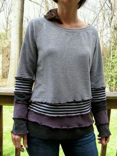casual clothing inspiration, altered, recycled, playful, unique, comfy clothes
