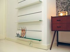Minimalist Shoe Shelf To #Organize Your Shoes  #Shoe Shelf by Martina Carpelan #DIY