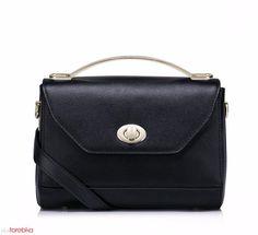 Niewielka prostokątna torebka Czarna