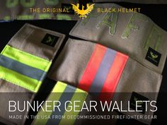 American Made Wallets from Recycled Firefighter Bunker Gear by James Love & Pedro Sostre / Black Helmet — Kickstarter