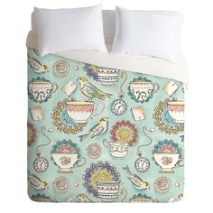 Heather Dutton Tea Time Duvet Cover   DENY Designs Home Accessories  guest bedroom 2