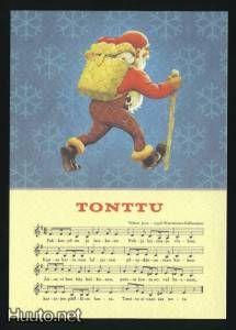 """Rudolf Koivu, """"Tonttu"""" -joulukortti - 2 € - Joulukortit - Postikortit - Keräily - Huuto.net - (avoin) Christmas Music, Christmas Cards, Illustrators, Fictional Characters, Christmas E Cards, Xmas Cards, Illustrator, Noel, Christmas Letters"""
