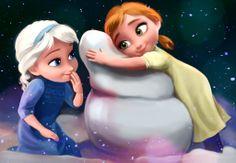 Frozen - little Elsa and Anna