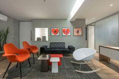 Clínica Dr Fernando Gomes Pinto, projeto de Betty Birger Arquitetura & Design