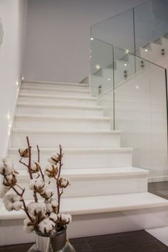 IMG_4829 (Custom) House Design, Home Stairs Design, Marble Stairs, Luxury Homes, Stone Decor, House Interior, Minimalist Home Decor, Tiled Staircase, Home Interior Design