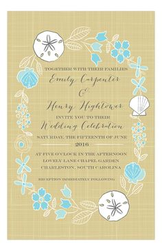 A Beach Wedding Invitation