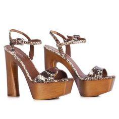 LE SILLA Sandal In Python Yuc In Adobe Colour H.130 Mm. #lesilla #shoes #sandals