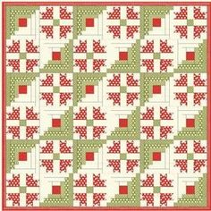 Cabin Christmas Quilt Pattern Download by Cotton Way now available at ConnecingThreads.com
