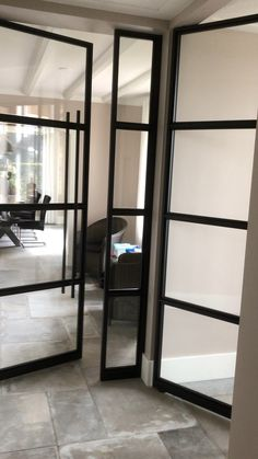 50 Delicate Ikea Room Dividers Ideas You Need To Know French Doors With Screens, French Doors Patio, Windows And Doors, Ikea Room Divider, Room Dividers, Glass Room Divider, Sliding Door Window Treatments, Black Interior Doors, Wardrobe Design Bedroom
