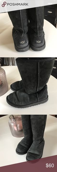 Tall black Uggs Pre loved tall black Uggs UGG Shoes Winter & Rain Boots