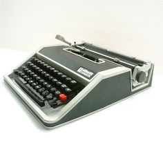 An Olivetti typewriter! Birthday gift for Robin in 1976