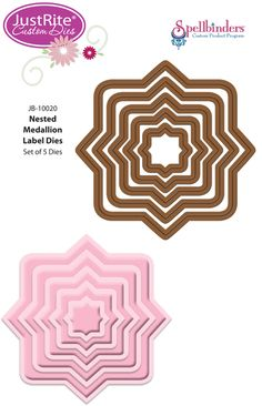 JustRite Custom Medallion Label Dies manufactured by @Spellbinders