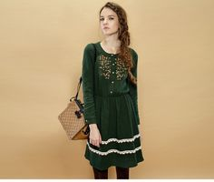 [ELF SACK] brand girls casual winter dresses new fashion 2014 cotton short with high waist OUT OF STOCK Out of Stock-in Dresses from Apparel...