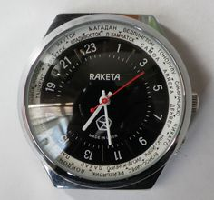 Soviet Russian Mechanical Watch Raketa 24 Hours Cali 2609 Made in USSR #4 RU in Jewellery & Watches, Watches, Wristwatches | eBay