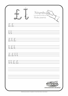 Calligraphy for kids - Letters / Handwriting - Cool Coloring Pages Calligraphy For Kids, Montessori, Letters For Kids, Cool Coloring Pages, Learning Time, Handwriting, Activities For Kids, Cool Stuff, Reading