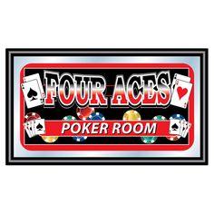 Four Aces Poker Room Framed Graphic Art