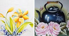 Venha aprender a fazer pintura em pano de prato, tudo passo a passo detalhado para você! Pinte lindas peças que podem ser vendidas ou dadas de presente.