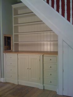Made to measure under stairs dresser. Hand made in London. #BespokeFurniture www.timamery.com