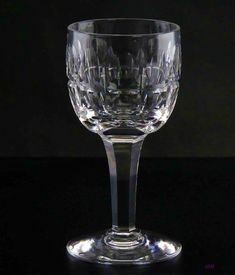 Drinks Bar Bohemia Crystal Cut Glass Sherry Port Glasses Set Of 4 Retro