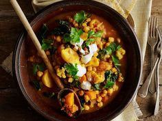 [Moroccan chickpea stew. Click here for recipe.](http://www.foodtolove.com.au/recipes/moroccan-chickpea-stew-16811).