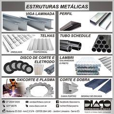 Linha Diaço para Estruturas Metálicas - #diaco #serra #es
