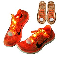 """DAWAY Z02 LED Light Up Shoelaces - Nylon Glow Shoes Laces with Three Flashing Modes Cool Safety Accessories for Dancing Hip-hop Cycling Running(Orange) - Our Brand StoryDAWAY is a brand which focus on kinds of outdoors sports products,including outdoors riding,camping,etc.""""Free Fashion Cool"""" is our brand idea.We pay attention to product quality assurance,focus on every product detail.Develop more outdoors sports products for young people.Make ever..."""