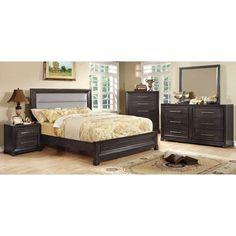 Furniture of America Ridenhour Upholstered Panel Bed Set - IDF-7790Q-2PC
