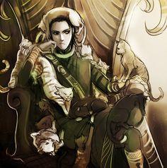miyuliart: Loki - God of Cats. … Wait.