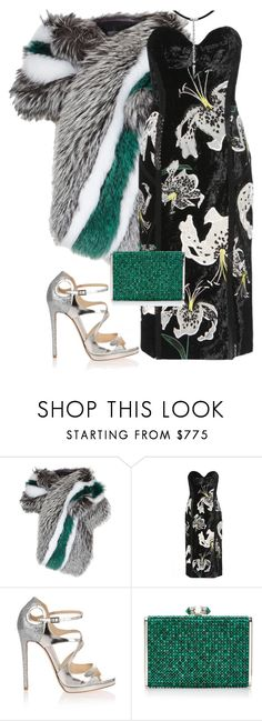 """""""Untitled #4420"""" by metemelobiebas ❤ liked on Polyvore featuring Lilly e Violetta, Erdem, Jimmy Choo, Judith Leiber and Orlando Orlandini"""