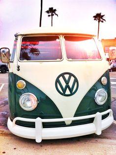 VW Bus in Newport Beach California