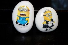 Minion Hand Painted on Rock by Artist | eBay