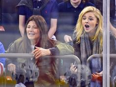 Star Tracks: Monday, April 20, 2015 | GAME FACES | November Criminals costars Catherine Keener and Chloë Grace Moretz watch the Pittsburgh Penguins take on hometown favorites the New York Rangers during a playoff game at Madison Square Garden on Saturday.
