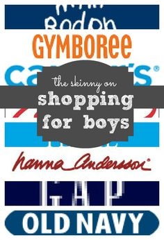 An extensive list of one Boy Mom's favorite places to shop for boy's clothing, from baby to toddler and beyond!