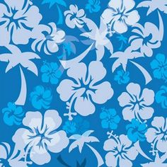 Pool Noodle Cover-Blue Hibiscus