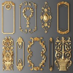 frame cartouches set model - Tracey Stevens - Welcome to the World of Decor! Molduras Vintage, Decoration Shabby, Beautiful Decoration, Trumeau, Wall Molding, Moldings, Classic Interior, Ceiling Design, Tv Wall Design