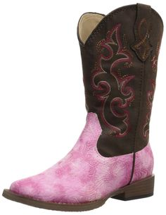 Roper Toolie Square Toe Cowgirl Boot (Infant/Toddler/Little Kid) >>> Remarkable product available now. : Girl's boots