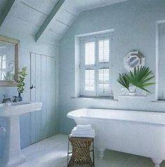 paint for bathroom in sea shore | via janelle adams