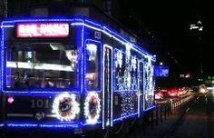 熊本市内を走る市電が約万個の発光ダイオードLEDを飾り付けたイルミネーション電車が登場していますよ 震災からの復興を誓うがんばろうくまもとの文字と市のイメージキャラクターひごまるが描かれているかわいいデザイン 熊本に遊びにきてぜひ見つけてみてね() tags[熊本県]