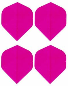 SetPLUS(TM) - Four Of A Kind Dart Flights - One Set of 3 Plus a Spare Flight! #4055 Amerithon Pink Solid Color on Clear - Standard Shape by Amerithon Flights. $1.75. #4055. Save 13% Off!