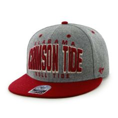 NCAA Alabama Crimson Tide Cobblestone Two-Tone Snapback Cap (Gray, One-Size) by '47 Brand. $26.99. Snapback closure. Kelly green under visor for a crisp look. Oversized tonal embroidery front graphic. One-size fits all. Made from 100-Percent wool melton. cotton. 47 Brand provides the quality all true fans desire in their gear. Known for their vintage look and feel, '47 has managed to also provide a new school spin to this old school craze. Featuring tight, crisp stichi...