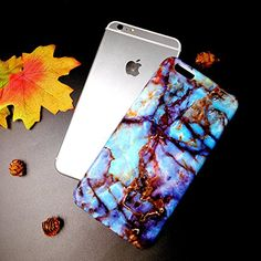 Amazon.com: Wastou [Marble Stone Pattern Series] Soft TPU Creative Case for iPhone 6 6S 4.7 Inch (Magic Blue): Cell Phones & Accessories