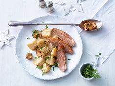 Steinpilz - Rahmkartoffeln mit Entenbrust
