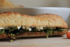 Weekend Picnic: fig-goat cheese spread on a baguette | skinny fat girl diary