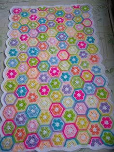 Granny Square Crochet Blanket...Baby Crib by GalyaKireva on Etsy