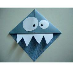Voici comment réaliser un petit monstre en papier.