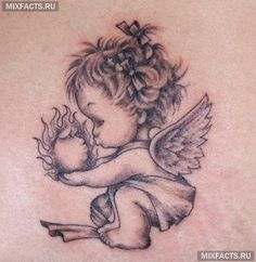Картинки по запросу тату ангел на руке