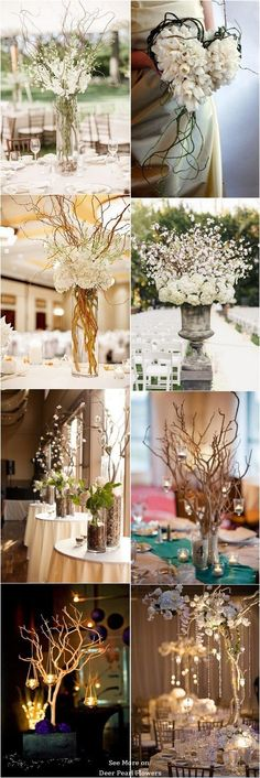 Rustic Twigs and Branches Wedding Ideas / http://www.deerpearlflowers.com/twigs-and-branches-wedding-ideas/ #WeddingIdeasReception