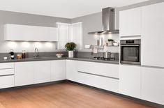 Kitchen Room Design, Interior Design Kitchen, Grey And White Room, Corner Shelf Design, Korean Kitchen, Modern Hallway, Living Room Grey, Kitchen Furniture, Home Kitchens